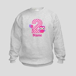 2nd Birthday Owl Pink Personalized Sweatshirt