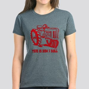 This Is How I Roll Tractor Red Women's Dk T-Sh