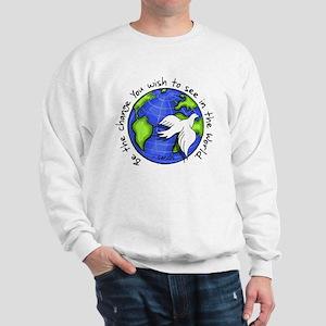 World Peace Gandhi - Funky Stroke Sweatshirt