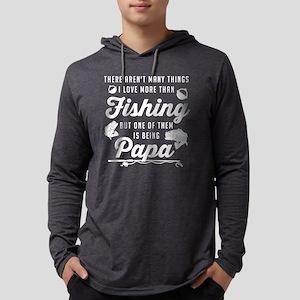 Love Fishing and Being Papa Mens Hooded Shirt