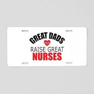 Dad of Nurse Aluminum License Plate