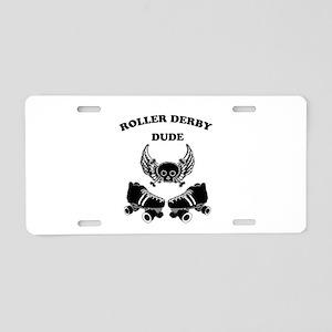 Roller Derby Dude Aluminum License Plate