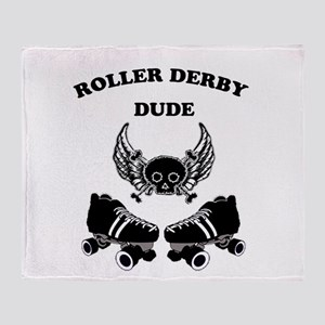 Roller Derby Dude Throw Blanket