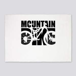 Mountain Bike 5'x7'Area Rug