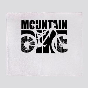 Mountain Bike Throw Blanket