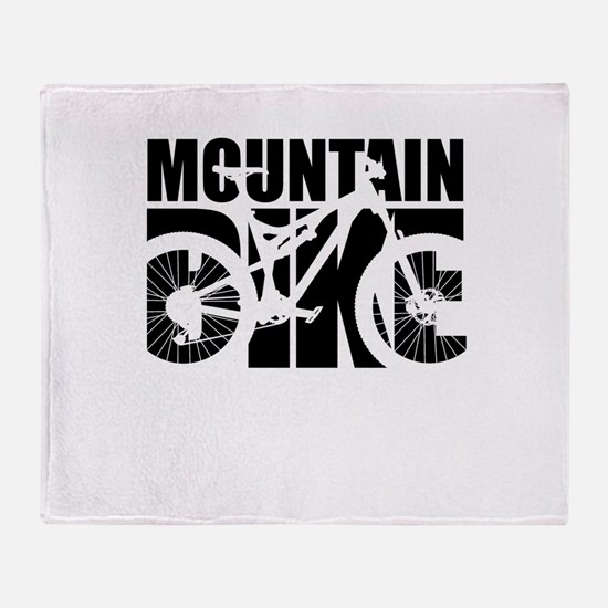 Mountain Bike Throw Blanket