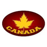 Canada Souvenir Varsity Sticker (Oval)