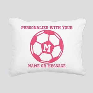 PERSONALIZED Pink Soccer Ball Rectangular Canvas P