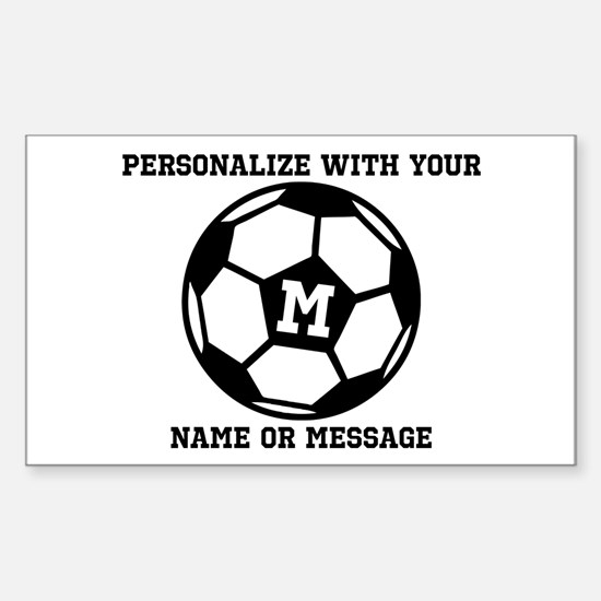 PERSONALIZED Soccer Ball Decal