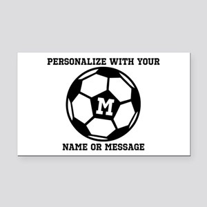 PERSONALIZED Soccer Ball Rectangle Car Magnet