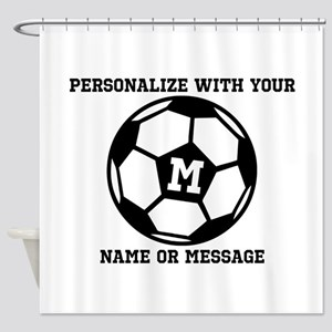 PERSONALIZED Soccer Ball Shower Curtain