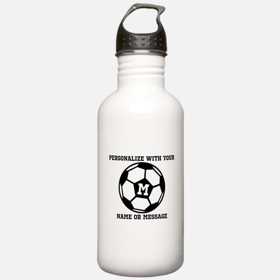 PERSONALIZED Soccer Ball Water Bottle