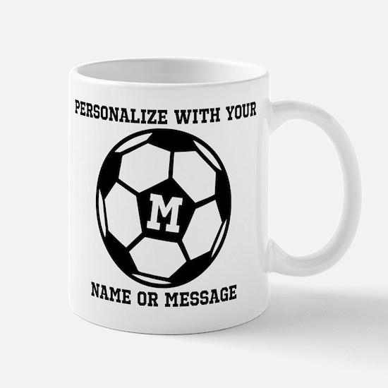 PERSONALIZED Soccer Ball Mugs