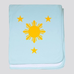 Philippines 3 Star and Sun baby blanket