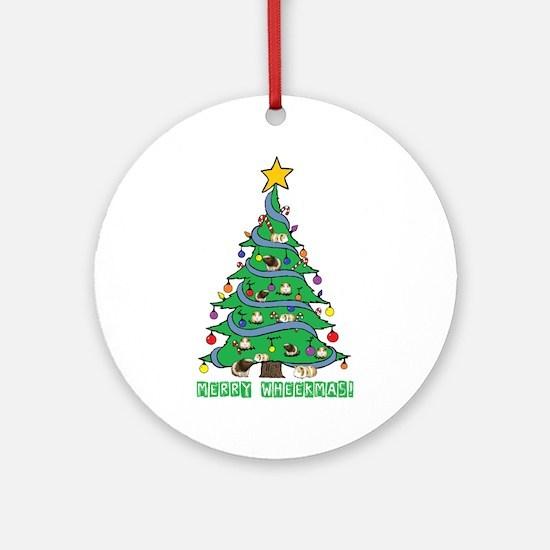 Merry Wheekmas! Guinea Pig Christmas Tree Round Or