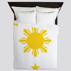 Philippines 3 Star and Sun Queen Duvet