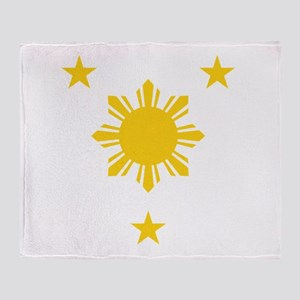 Philippines 3 Star and Sun Throw Blanket