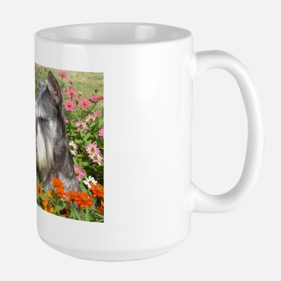 Best Friend Black & Silver Schnauzer Large Mug