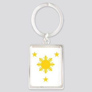 Philippines 3 Star and Sun Keychains