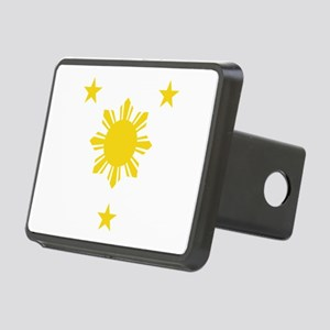 Philippines 3 Star and Sun Rectangular Hitch Cover