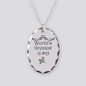 Worlds Greatest GMA Necklace Oval Charm