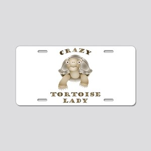 Crazy Tortoise Lady Aluminum License Plate