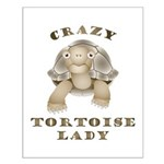 Crazy Tortoise Lady Posters Small Poster