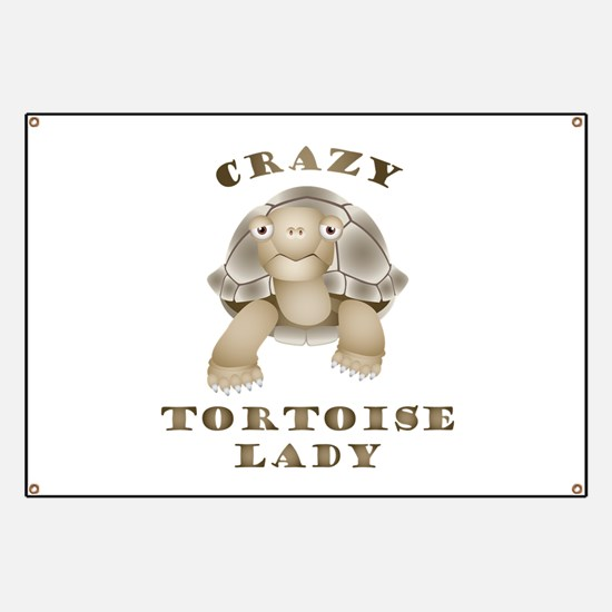 Crazy Tortoise Lady Banner