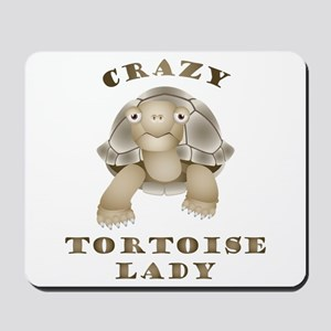 Crazy Tortoise Lady Mousepad