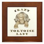 Crazy Tortoise Lady Framed Tile