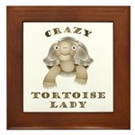 Crazy Tortoise Lady Framed Tile