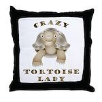 Crazy Tortoise Lady Throw Pillow