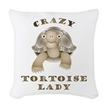 Crazy Tortoise Lady Woven Throw Pillow