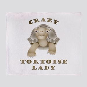 Crazy Tortoise Lady Throw Blanket