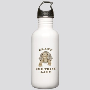 Crazy Tortoise Lady Water Bottle
