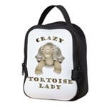 Crazy Tortoise Lady Neoprene Lunch Bag