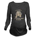 Crazy Tortoise Lady Long Sleeve Maternity T-Shirt