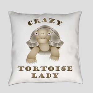Crazy Tortoise Lady Everyday Pillow