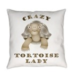 Crazy Tortoise Lady Everyday Pillow