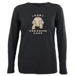 Crazy Tortoise Lady Plus Size Long Sleeve Tee