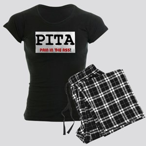 PITA - PAIN IN THE ASS! Women's Dark Pajamas