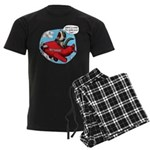 Red Thunder Men's Dark Pajamas