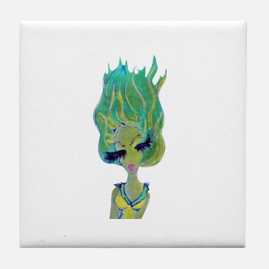 Funny Vuitton Tile Coaster