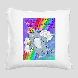 Happy Place Square Canvas Pillow