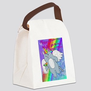 Happy Place Canvas Lunch Bag