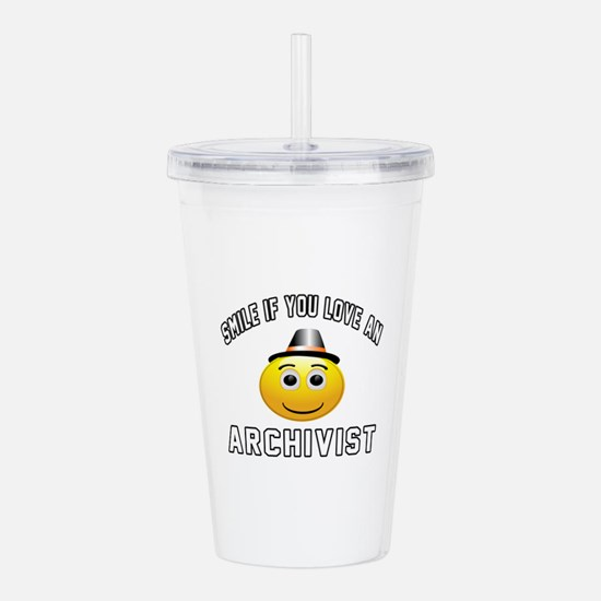 Smile If You Love Arch Acrylic Double-wall Tumbler