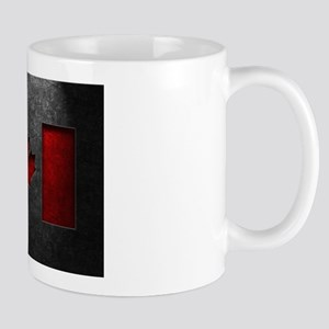 Canadian Flag Stone Texture Mugs