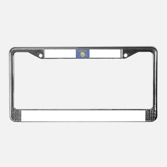 Montana State Silk Flag License Plate Frame
