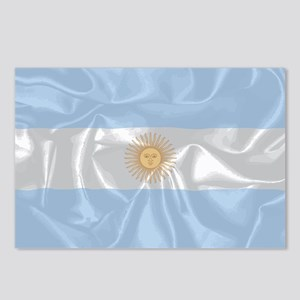 Argentina Silk Flag Postcards (Package of 8)