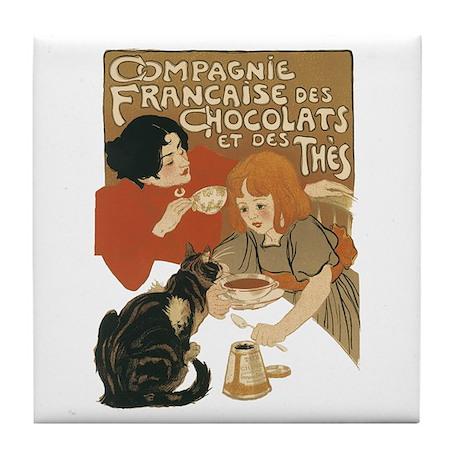 French Tea Tile Coaster